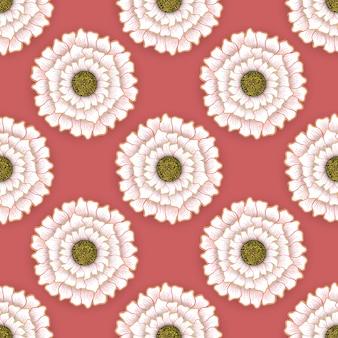 Duży kwiatowy wzór