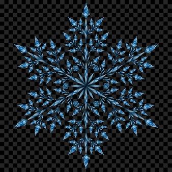 Duży przezroczysty świąteczny płatek śniegu