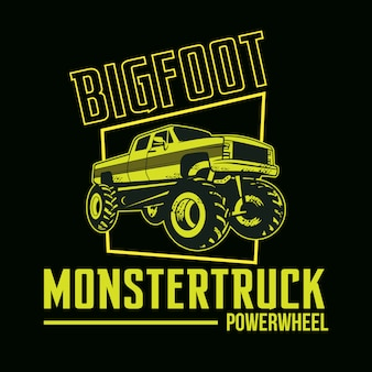 Duży samochód stóp