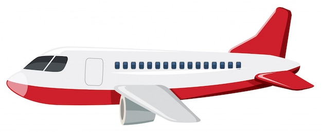 Duży samolot biały tło