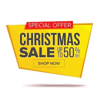 Duży świąteczny sztandar sprzedaż