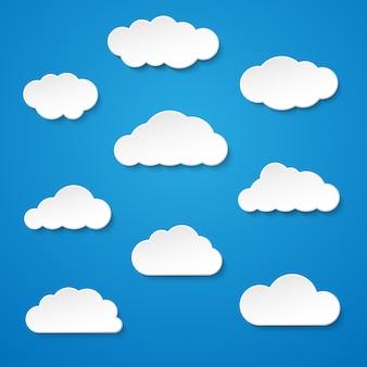 Duży zestaw chmur.