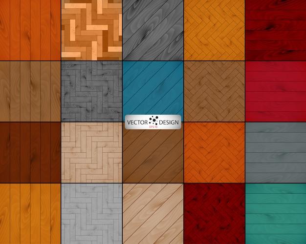 Duży zestaw drewnianych tekstur