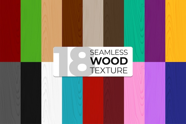 Duży zestaw kolorowych i monochromatycznych wzorów bez szwu. drewniane tekstury. ilustracja na plakaty, tła, druk, tapety. ilustracja desek. .