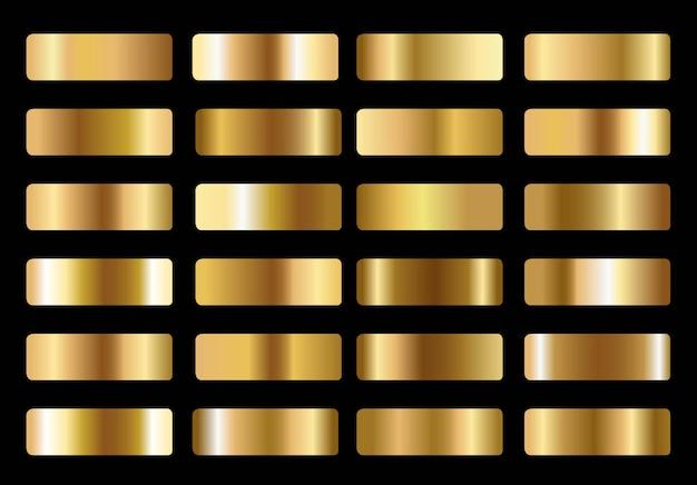 Duży zestaw metalicznych złotych gradienty