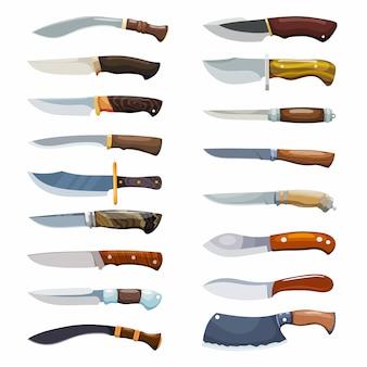 Duży zestaw noży kryminalnych