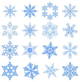 Duży zestaw płatek śniegu, płatek śniegu