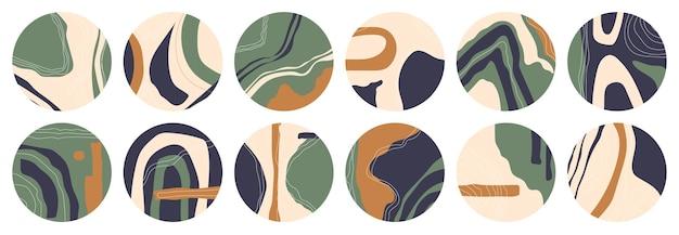 Duży zestaw różnych podświetlanych okładek. ręcznie rysowane szablony.