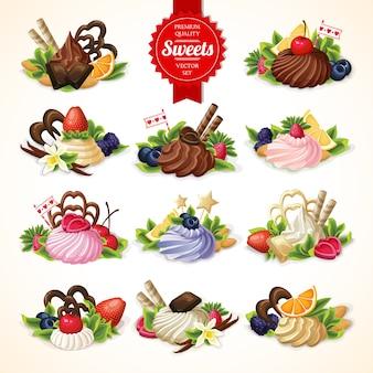 Duży zestaw słodyczy
