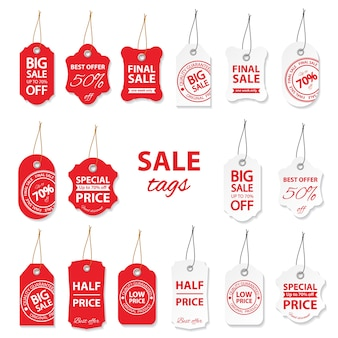 Duży zestaw sprzedaż etykiet