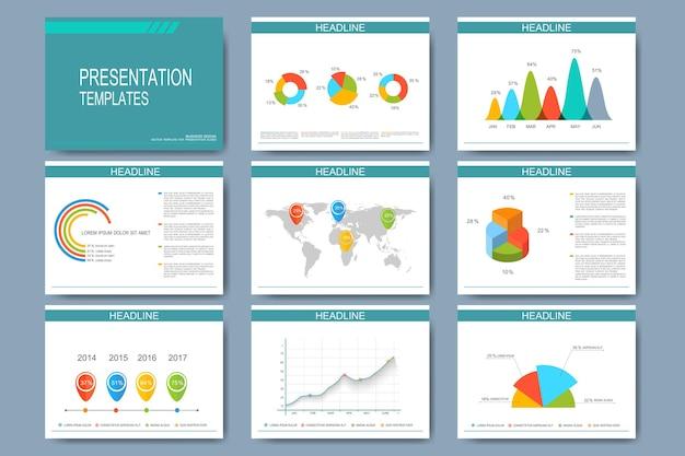 Duży zestaw szablonów do prezentacji slajdów