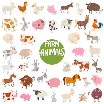 Duży zestaw znaków dla zwierząt gospodarskich