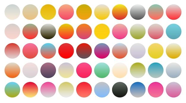 Duży zestaw żywych kolorowych gradientów