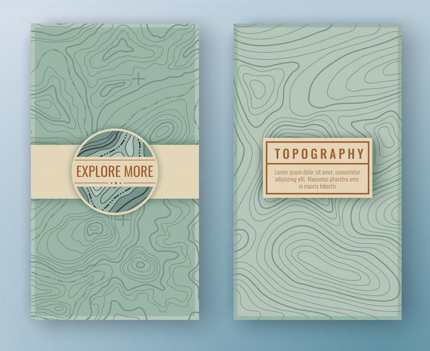 Dwa abstrakcyjne retro pionowe banery