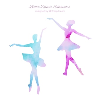 Dwa ballerinas sylwetki