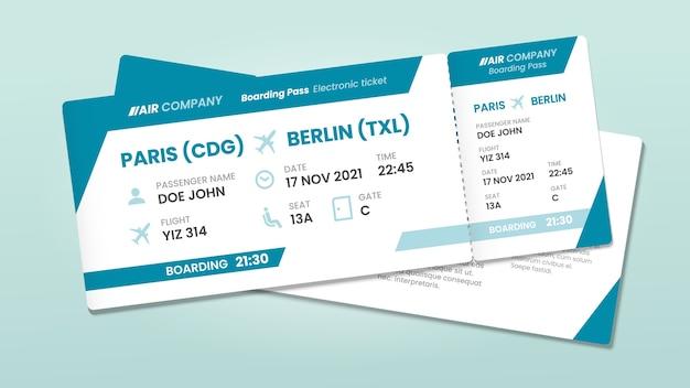 Dwa bilety lotnicze