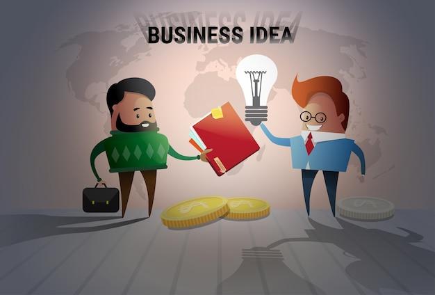Dwa biznesowego mężczyzna nowego pomysłu pojęcie