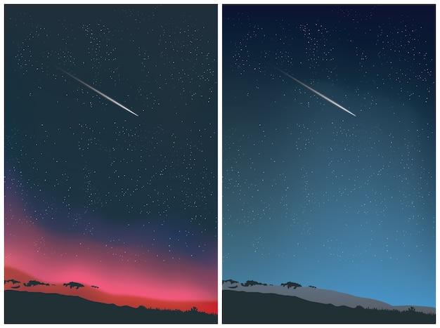 Dwa desing tła nieba