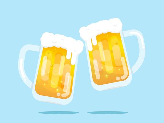 Dwa kufle piwa