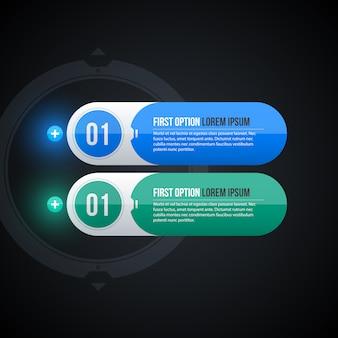 Dwa okrągłe banery internetowe w błyszczącym stylu