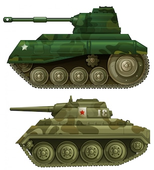 Dwa opancerzone czołgi
