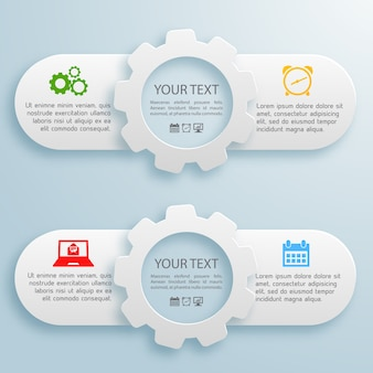 Dwa poziome biznesowe banery internetowe z tekstem na białym tle