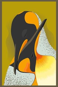 Dwa ptaki z pomarańczowym upierzeniem i dużymi dziobami siedzą w uścisku