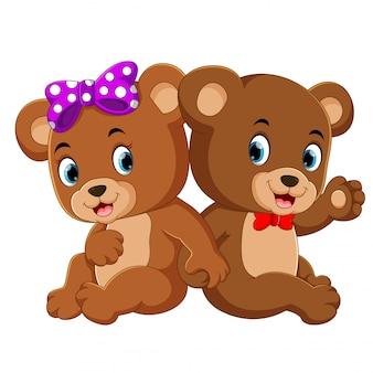 Dwa śliczne niedźwiedzie