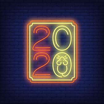 Dwa tysiące dwadzieścia znak neonu