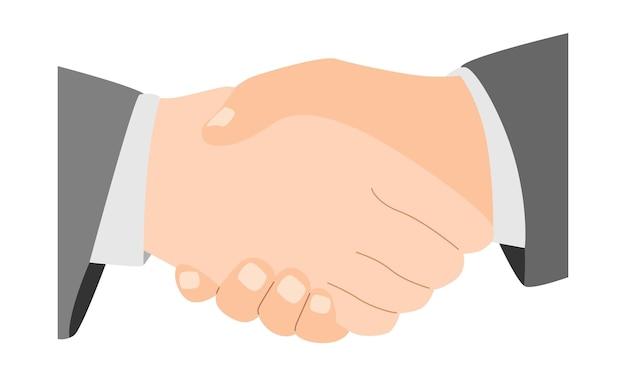 Dwa uścisk dłoni biznesmena