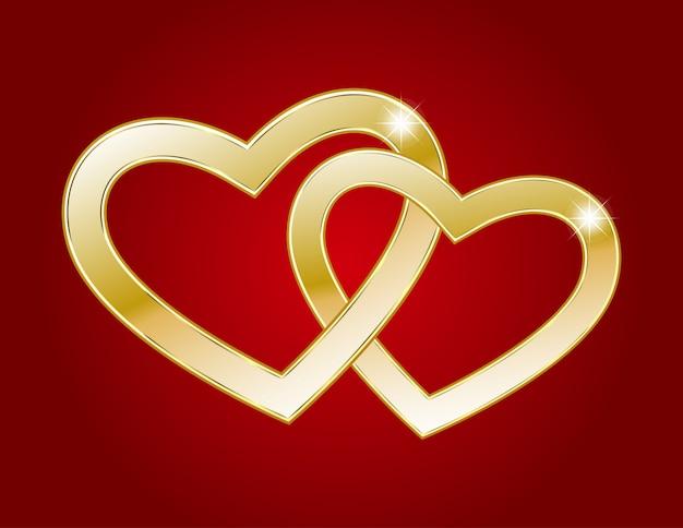 Dwa złote serca