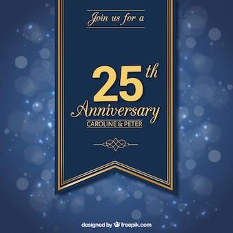 Dwadzieścia piąta rocznica wstążka