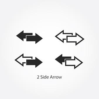 Dwie boczne strzałki w lewo i w prawo