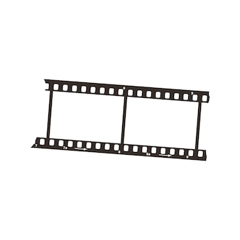 Dwie klatki pozytywu filmowego o średnicy 35 mm, prosta czarna ikona na białym tle