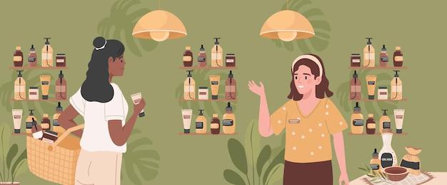Dwie kobiety w sklepie ekologicznym