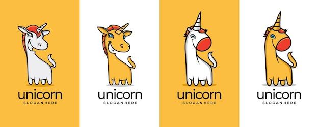 Dwie koncepcje projektu dla logo unocorn