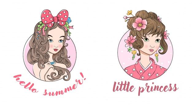 Dwie małe piękne księżniczki