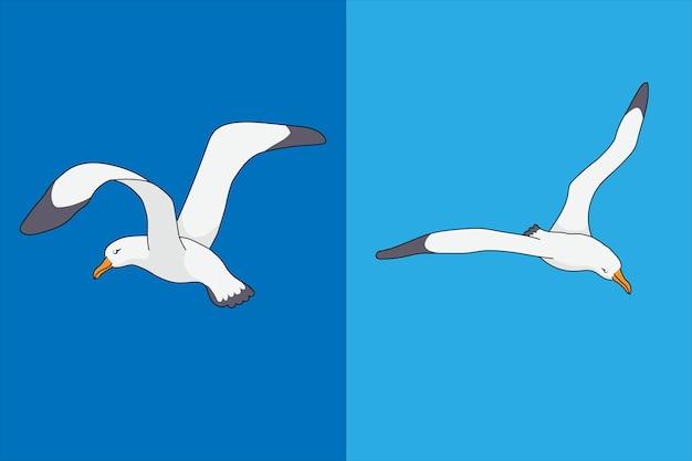 Dwie mewy ilustracji wektorowych do projektowania
