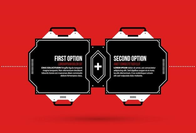 Dwie opcje z elementami hi-tech w stylu techno