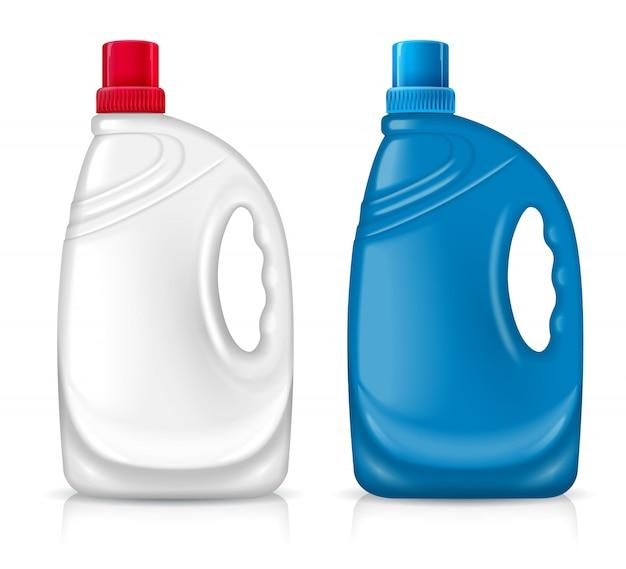 Dwie plastikowe butelki
