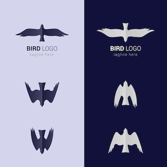 Dwie wersje logo bird