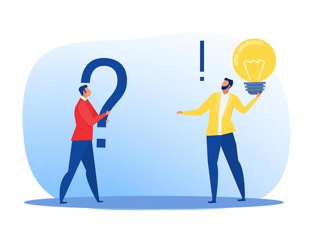 Dwóch biznesmenów różne myślenie między koncepcją sukcesu nastawionego na nastawienie stałe a nastawieniem na wzrost