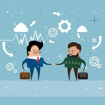 Dwóch biznesmenów wstrząsnąć
