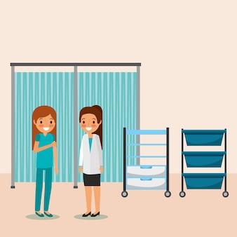 Dwóch lekarzy sądów szuflady medyczne osób zawodowo