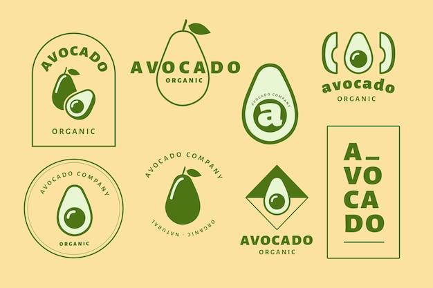 Dwukolorowa minimalistyczna kolekcja logo