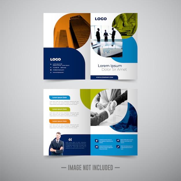 Dwukrotnie biznes broszura szablon
