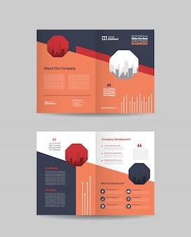 Dwukrotnie składany projekt broszury