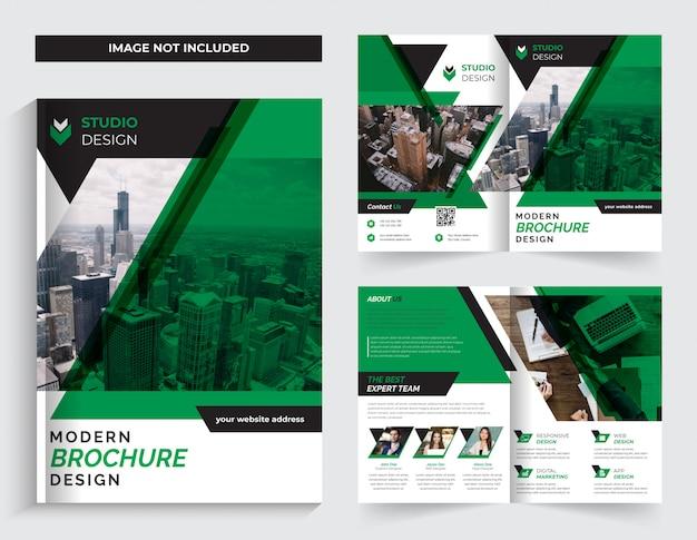 Dwukrotnie składany szablon broszury korporacyjnej