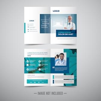 Dwukrotnie składany szablon broszury medycznej