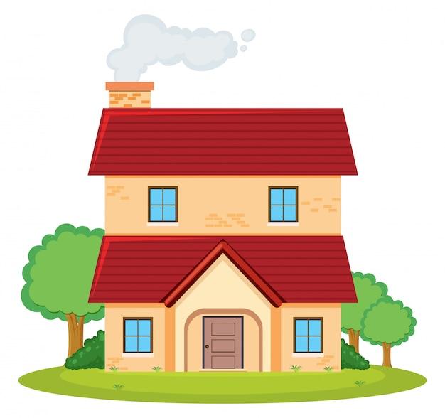 Dwupiętrowy dom